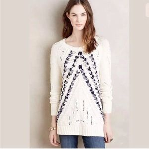 Anthropologie knitted & knotted  braided sweater